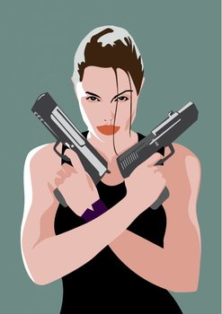 Pop Art Postcard | Lara Croft
