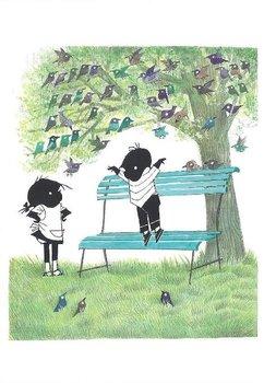 Fiep Westendorp Postcards | Jip en Janneke spelen in het park