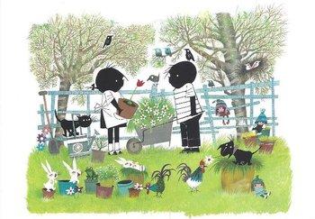 Fiep Westendorp Postcards | Jip en Janneke in de tuin