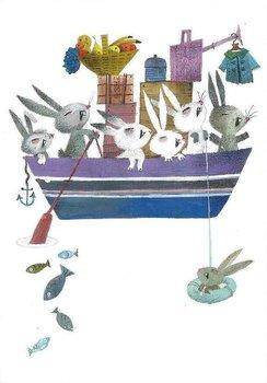 Fiep Westendorp Postcards   Konijnenboot