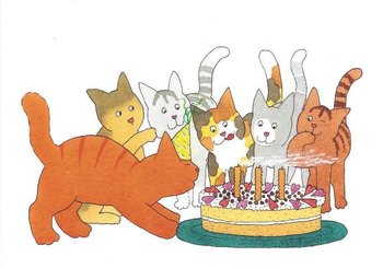 Dikkie Dik Postcards | Birthday Cake