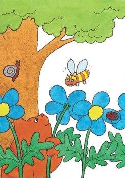 Dikkie Dik Postcards | In de tuin