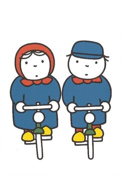Nijntje Miffy Postcards | Op de fiets
