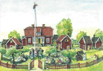 Gallery Cards Postcard | Marit Törnqvist, Party at Katthult