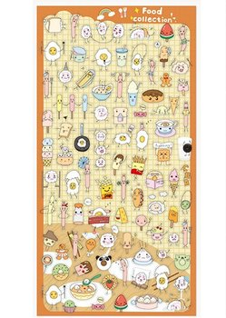 Flat Seal Sticker   Food Collection