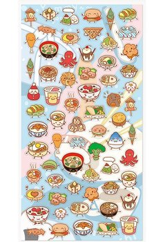 Flat Seal Sticker | Food Kawaii