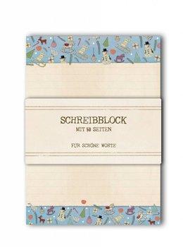 A5 Schreibblock TikiOno | Weihnachtsmuster