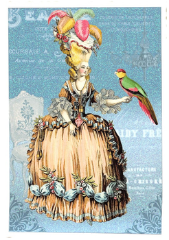 Postcard Edition Tausendschoen | Lady with Parrot