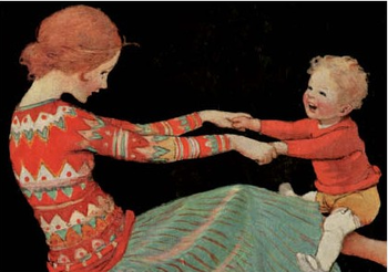 Postcard   Mother and Child