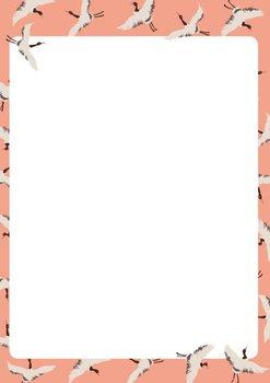 A5 Letter Paper Pad crissXcross | Kraniche