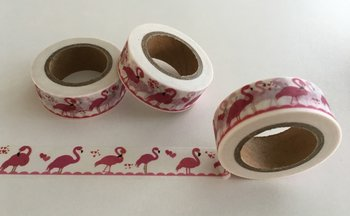 Washi Masking Tape | Flamingo White