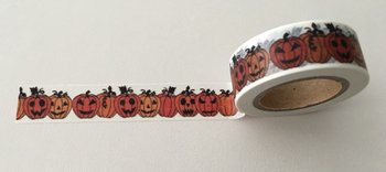 Washi Masking Tape | Orange Pumpkins