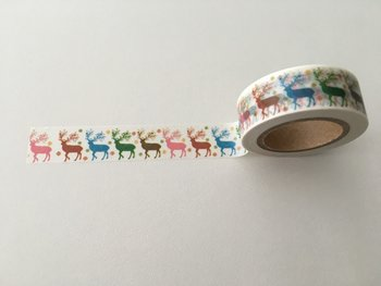 Christmas Washi Masking Tape | Rainbow Reindeer