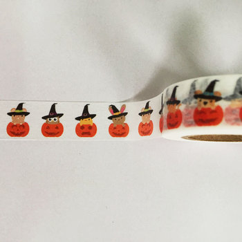 Washi Masking Tape | Halloween Animals with Hats in Pumpkins