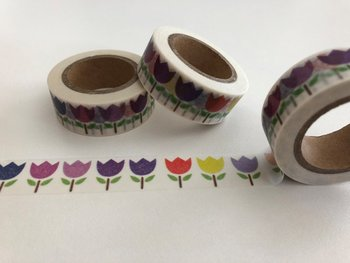 Washi Masking Tape | Purple Tulips