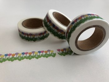 Washi Masking Tape | Coloured Tulips