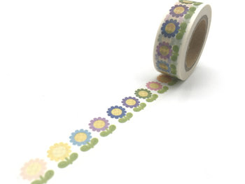 Washi Masking Tape | Coloured Sunflowers