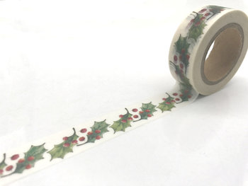 Christmas Washi Masking Tape | Holly