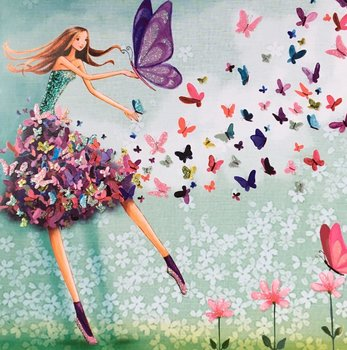 Mila Marquis Postcard | Woman with Butterflies