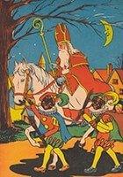 Postcard | A.N.B. - Sinterklaas met zwarte pieten op pad