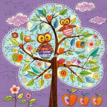 Mila Marquis Postcard | Owls in Tree