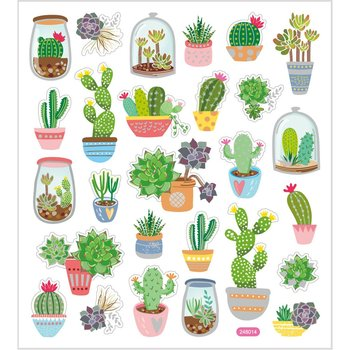 Seal Sticker with Glitter Foil | Cactus