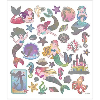 Seal Sticker with Silver Foil | Mermaid