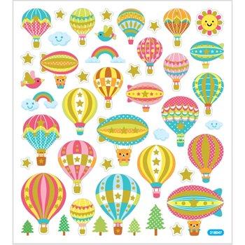 Seal Sticker met Glitter Folie | luchtballonnen