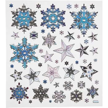 Seal Sticker with Silver Foil   Snow Crystals