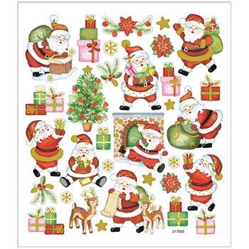 Seal Sticker met Goudfolie | Happy Santa