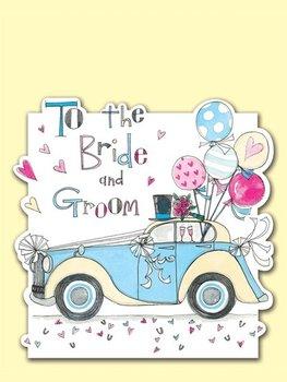 Rachel Ellen Designs - Postcards - To the Bride and Groom - Wedding Car