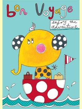 Rachel Ellen Designs - Postcards - Jim Jams - Bon Voyage - Elephant