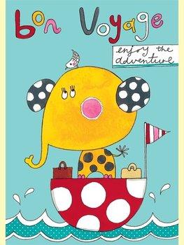 Rachel Ellen Designs - Postcards - Jim Jams - Bon Voyage - Elephant