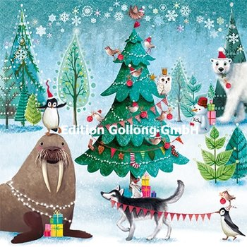 Mila Marquis Postcard Christmas | Animals in the forest