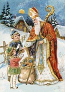 Postcard | Prentbriefkaart ca. 1910 - Sinterklaas