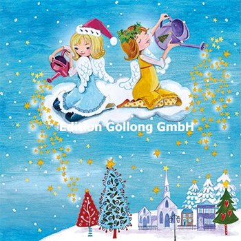 Cartita Design Postcard Christmas | Two angels on a cloud