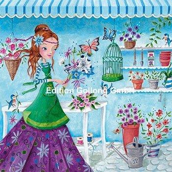 Cartita Design Postcard | Woman in the flower shop