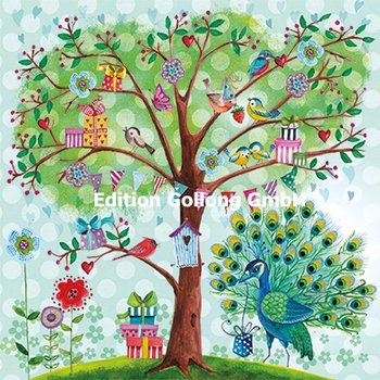 Cartita Design Postcard | Tree with birds and presents