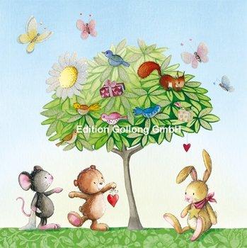 Nina Chen Postcard | Tree with animals