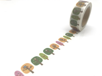 Washi Masking Tape | Coloured Trees