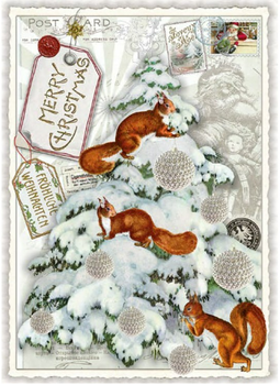 Postcard Edition Tausendschoen Christmas | Merry Christmas - Squirrels