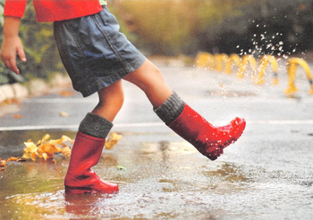 Cartweb Retro Postcard | Rainboots