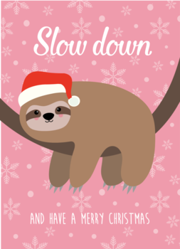 Studio Inktvis Postcard | Slow Down Sloth