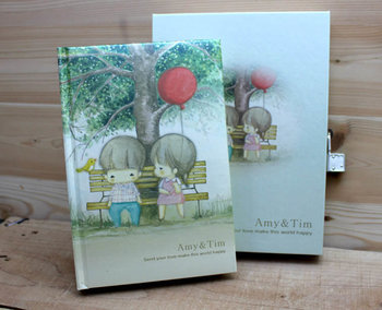 Amy and Tim Diary Book Journal | Tree