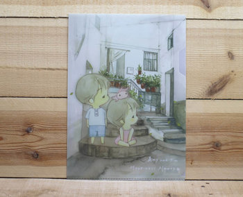 Amy and Tim Collection A4 Plastic File Folder   Small Yard
