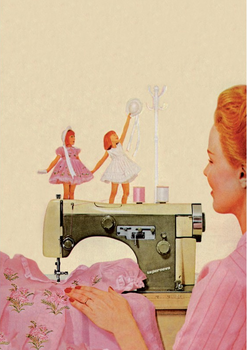Postcard | Blast from the past - Sewing