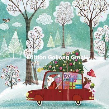 Mila Marquis Postcard Christmas | Santa in car