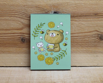 Honey Bear Memopad | honey flower tea