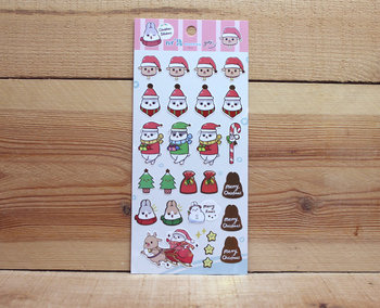 Machiko Bunny Christmas Stickers