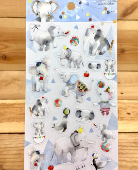 Lianfeng Watercolour Clear Stickers | Gray Elephant